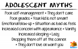 Adolescent Myths white